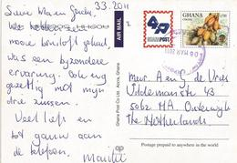 Ghana 2011 Kotoka Airport Cocoa Pods Postal Stationary Card. Unreported By Sehler! - Ghana (1957-...)