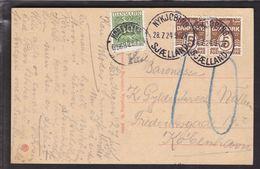 1924. Postage Due. Porto. 10 Øre Gren KØBENHAVN K 6. OMB. 28.7.24. On Postcard From N... (Michel P13) - JF111119 - Port Dû (Taxe)