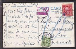 1929. Postage Due. Porto. 10 Øre Gren KØBENHAVN 1 OMB. -7.3.29. On Postcard From LOS ... (Michel P13) - JF111123 - Port Dû (Taxe)