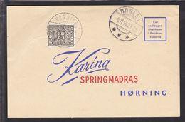1956. Postage Due. Porto. 20 Øre Grey HØRNING 6.11.56. On Card From ROSLEV -6.11.56. (Michel P29) - JF111152 - Port Dû (Taxe)