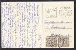 1958. Postage Due. Porto. 20 Øre Grey X 2 KERTEMINDE -6. 1. 58. On Card From NYBORG 5... (Michel P29) - JF111153 - Port Dû (Taxe)