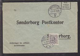 1940. Postage Due. Porto. 20 Øre Grey On Cover From KØBENHAVN F 4 -5.8.40. Interestin... (Michel P29) - JF111155 - Port Dû (Taxe)
