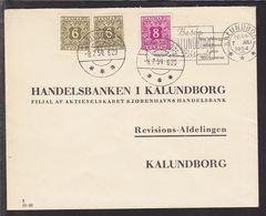 1954. Postage Due. Porto. 8 Øre Red Lilac  + 2 X 6 ØRE KALUNDBORG 8.7.54. On Letter F... (Michel P34) - JF111165 - Port Dû (Taxe)