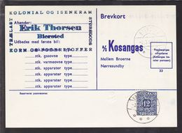 1962. Postage Due. Porto. 12 Øre Dark Blue NØRRE SUNDBY 3.3.62. On Card From BIERSTED... (Michel P38) - JF111167 - Port Dû (Taxe)