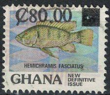 GHANA Oblitération Ronde Used Stamp Poisson Fish Hemichramis Fasciatus - Ghana (1957-...)