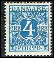 1935. Postage Due. Porto. 4 Øre Blue (Michel P10) - JF309669 - Port Dû (Taxe)