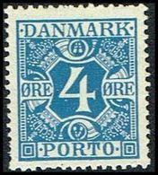 1935. Postage Due. Porto. 4 Øre Blue (Michel P10) - JF309670 - Port Dû (Taxe)