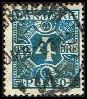 1935. Postage Due. Porto. 4 Øre Blue (Michel P10) - JF316960 - Port Dû (Taxe)