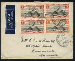 E28 - Egypt - Airmail - Cover 1936 - Alexandria To Bournemouth England - Poste Aérienne