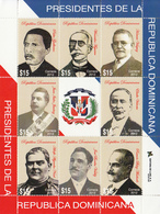 2012 Dominican Republic Presidents Miniature Sheet Of 8 Complete MNH - Dominican Republic