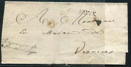 """BELGIQUE - LUYK SUR FRGT. DE LETTRE AVEC """" GOUVERNEUR DE / LA PROVINCE DE LIÉGE """" - B - 1830-1849 (Belgique Indépendante)"""
