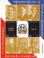 2014 Dominican Republic Dominicana Presidents Miniature Sheet Of 8 Complete MNH - Dominicaine (République)