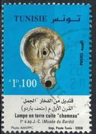 TUNISIE Oblitération Ronde Used Stamp Lampe En Terre Cuite Chameau Musée Du Bardo 2008 - Tunisia (1956-...)