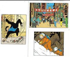 TINTIN - Lot De 3 Cartes Postales - Comics