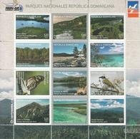 2015 Dominican Republic Dominicana National Parks Birds Whales Marine Life Complete Set Of 4 Miniature Sheets Of 12  MNH - Dominicaine (République)