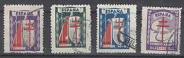 España U 0970/973 (o) Tuberculosos. 1943 - 1931-Hoy: 2ª República - ... Juan Carlos I