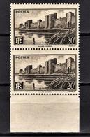 FRANCE 1941 - PAIRE  Y.T. N° 501 - NEUFS** - Neufs