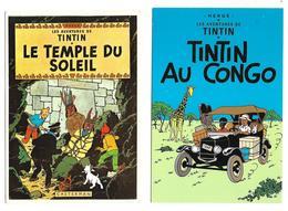 TINTIN - Lot De 4 Cartes Postales - Comics