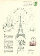 CENTENAIRE DES ONDES RADIO    MIRECOURT 88  VOSGES   MAI JUIN  2987 - Documents De La Poste