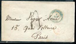 """BELGIQUE - CAD """" BRUXELLES """" BLEU LE 9/1/1830 POUR PARIS - B - 1830-1849 (Belgique Indépendante)"""