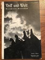 Volk Und Welt - Deutchlands Montasbuch - September 1940 - Revues & Journaux
