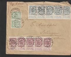 No 53-55-56 (1+2+5ct.) Op Brief Van PERUWELZ Naar SOLINGEN (DE) - 1893-1907 Armoiries