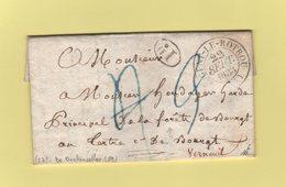 Nogent Le Rotrou - 27 - Eure - 22 Sept 1833 - Courrier De Bretoncelles Dans L'Orne 59 - Taxe Corrigee - Marcophilie (Lettres)