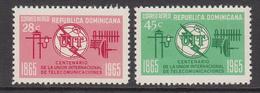 1966 Dominican Republic Dominicana ITU Complete Set Of 2 MNH - Dominicaine (République)