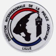 ECUSSON TISSUS PATCH POLICE NATIONALE DCPJ / DIPJ DE LILLE ETAT EXCELLENT SUR VELCROS - Police & Gendarmerie