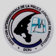 ECUSSON TISSUS PATCH POLICE NATIONALE DCPJ / DIPJ DE MARSEILLE ETAT EXCELLENT SUR VELCROS - Police & Gendarmerie