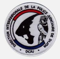 ECUSSON TISSUS PATCH POLICE NATIONALE DCPJ / DIPJ DE DIJON  ETAT EXCELLENT SUR VELCROS - Police & Gendarmerie