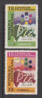 1972 Dominican Republic Dominicana Philately   Complete Set Of 2 MNH - Dominicaine (République)