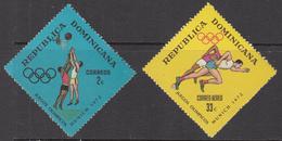 1972 Dominican Republic Dominicana Olympics Basketball  Complete Set Of 2 MNH - Dominicaine (République)