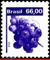 Ref. BR-1676 BRAZIL 1981 FRUITS, ECONOMIC RESOURCES,, GRAPES, MNH 1V Sc# 1676 - Frutta