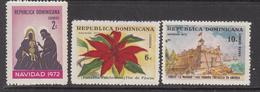 1972 Dominican Republic Dominicana Christmas Noel Complete Set Of 3 MNH - Dominicaine (République)