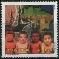 Ref. BR-2740D BRAZIL 2000 MAPS, DISCOVERY OF BRAZIL, SHIPS - MI# 3010 - MINT MNH 1V Sc# 2740D - Boten