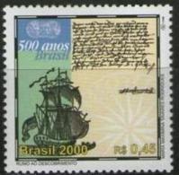 Ref. BR-2740N BRAZIL 2000 SHIPS, BOATS, DISCOVERY OF BRAZIL, MI# 3020 - MINT MNH 1V Sc# 2740N - Boten