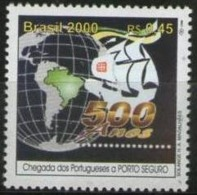 Ref. BR-2740T BRAZIL 2000 SHIPS, BOATS, DISCOVERY OF BRAZIL, MI# 3026 - MINT MNH 1V Sc# 2740T - Boten
