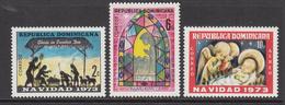 1973 Dominican Republic Christmas Noel Navidad  Complete Set Of 3 MNH - Dominicaine (République)