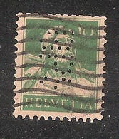 Perfin/perforé/lochung Switzerland No YT161 1921-1942 William Tell BPS  Banque Populaire Suisse Lausanne - Perforés
