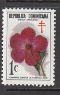 1973 Dominican Republic Anti-Tuberculosis Health Flower Fleur Complete Set Of 1 MNH - Repubblica Domenicana