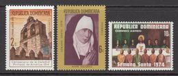 1974 Dominican Republic Holy Week Complete Set Of 3 MNH - Dominicaine (République)