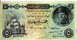 EGYPT  P. 25b 5 P 1951 Poor - Egypte