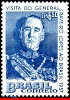 Ref. BR-848 BRAZIL 1957 FAMOUS PEOPLE, VISIT OF FRANCISCO H., CRAVEIRO LOPES, PRESIDENT PORTUGAL, MNH 1V Sc# 848 - Brasilien