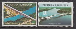1974 Dominican Republic Bridges Complete Set Of 2 MNH - Dominicaine (République)