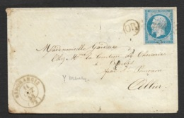 Seine Et Oise-Enveloppe Avec Cachet De Ris-Orangis-N°14A - Marcophilie (Lettres)