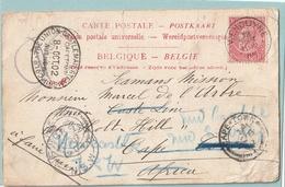 No 58 Op Kaart Wenduyne Naar Scheepsbemanning Cape Town + Retour Poste Restante - 1893-1900 Fine Barbe