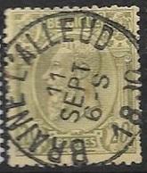 47 - 20c Olijf - Obl 'BRAINE L'ALLEUD' - 1884-1891 Léopold II