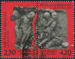 France 1993 Yv. N°P2813A - Héros Et Martyrs De La Résistance - Oblitéré - Oblitérés