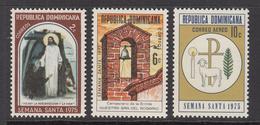 1975 Dominican Republic Holy Week Complete Set Of 3 MNH - Dominicaine (République)